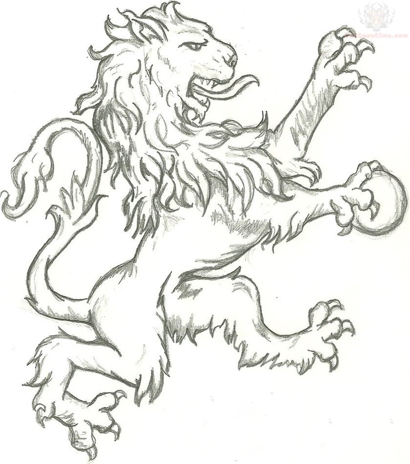 Lion Griffin Tattoo Design