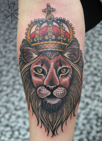 Lion king with crown - photo#16