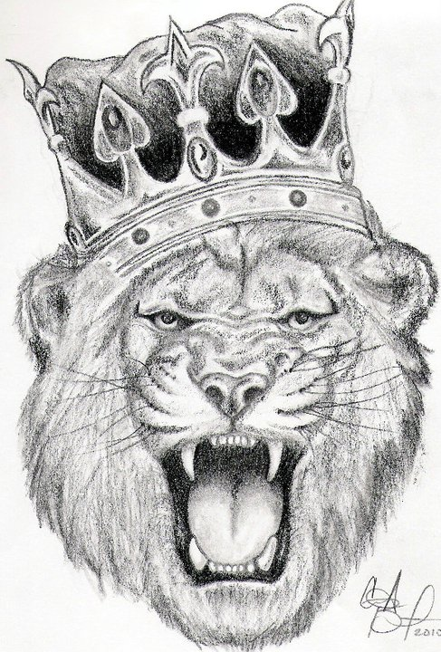 Lion king with crown - photo#24