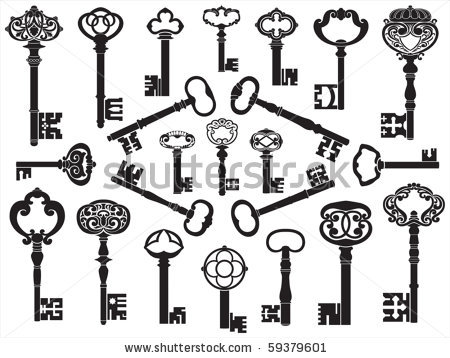 Lots Of Key Tattoo Designs