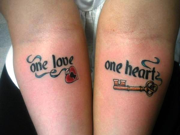 Love Heart Key Tattoo Designs