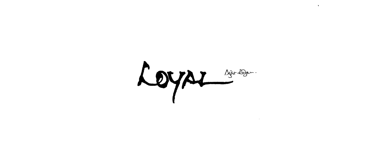 Loyal Lettering Tattoo Design