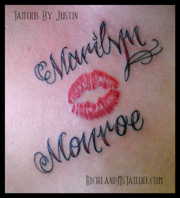 Lip Print Tattoo Black