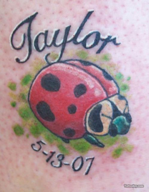 Memorable Ladybug Tattoo Design