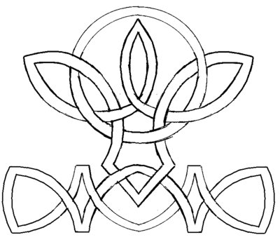 Modern Celtic Knot Tattoo Sample