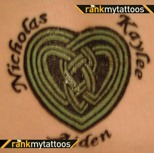 Names And Celtic Knot Tattoo Design