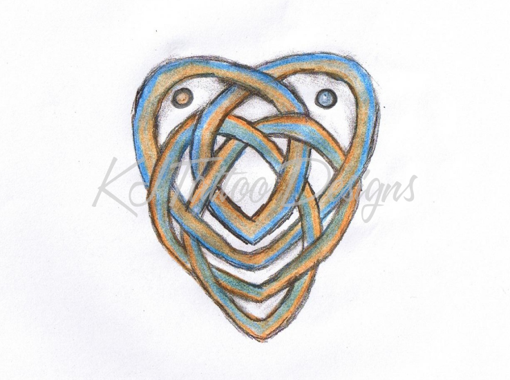 Nice Celtic Motherhood Knot Tattoo Design