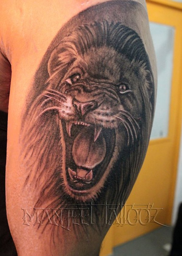 One More Angry Lion Tattoo