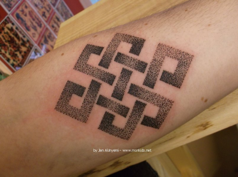 Outstanding Endless Knot Tattoo Design