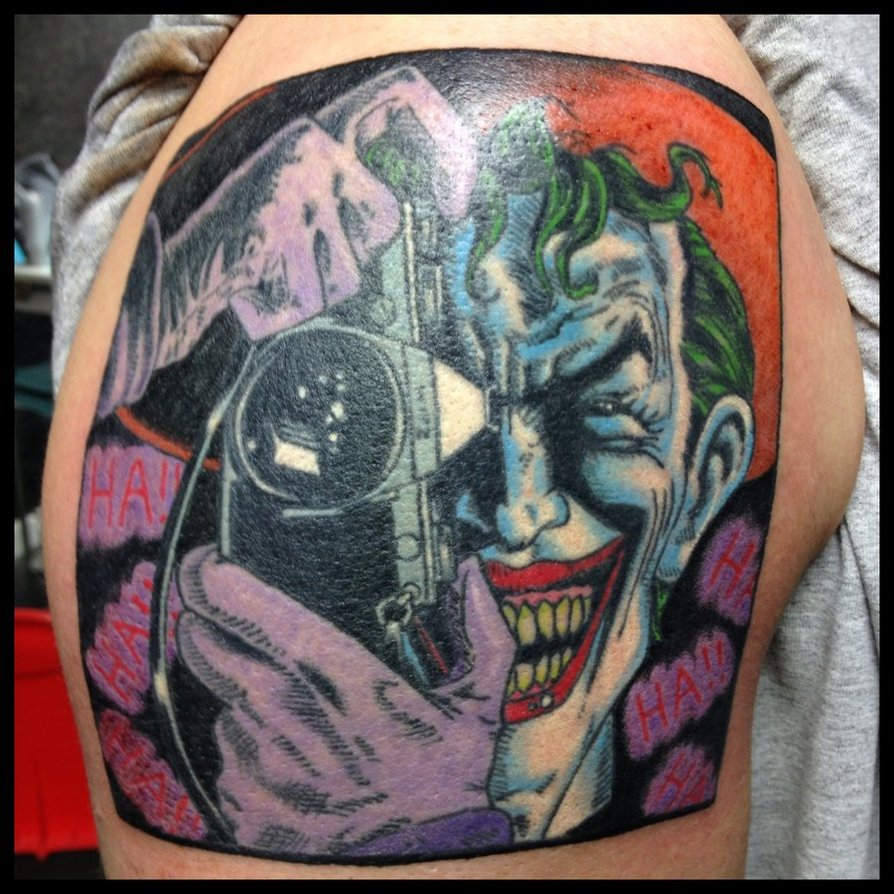 Photographer Joker Tattoo For Men