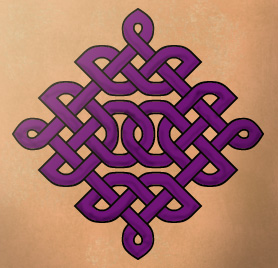 Purple Celtic Knot Tattoo Design