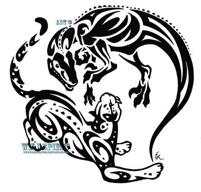 Raptor And Leopard Tattoo Designs