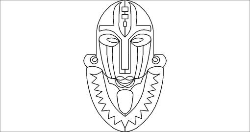 African Mask Tattoo Sample