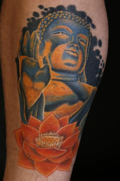 Amazing Buddha & Lotus Tattoo Design