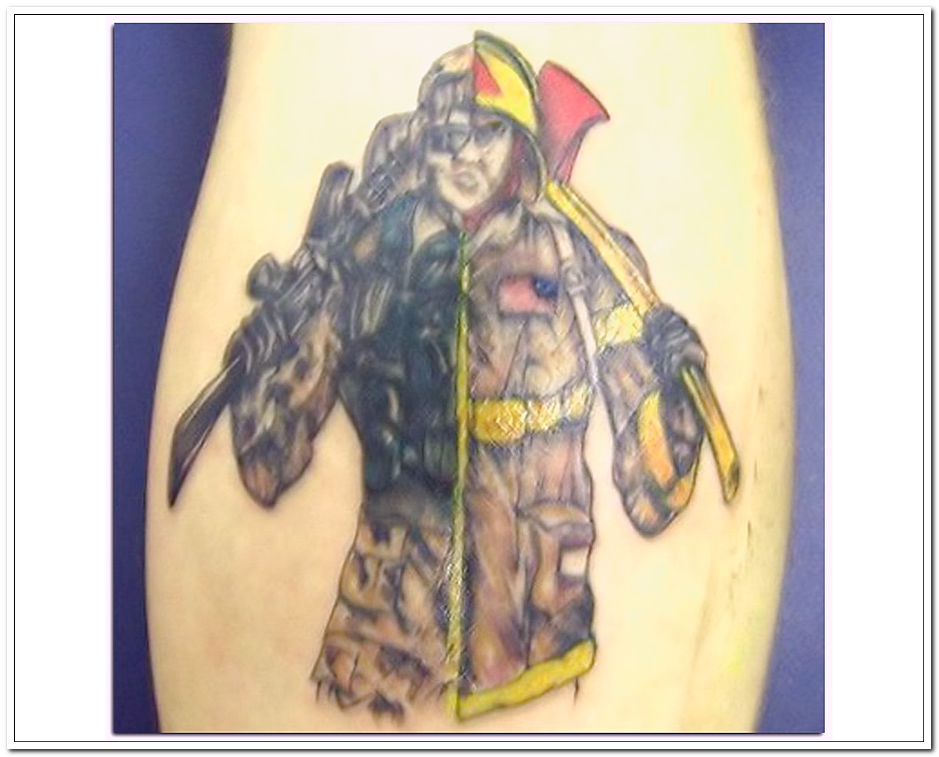 Amazing Military Man Tattoo