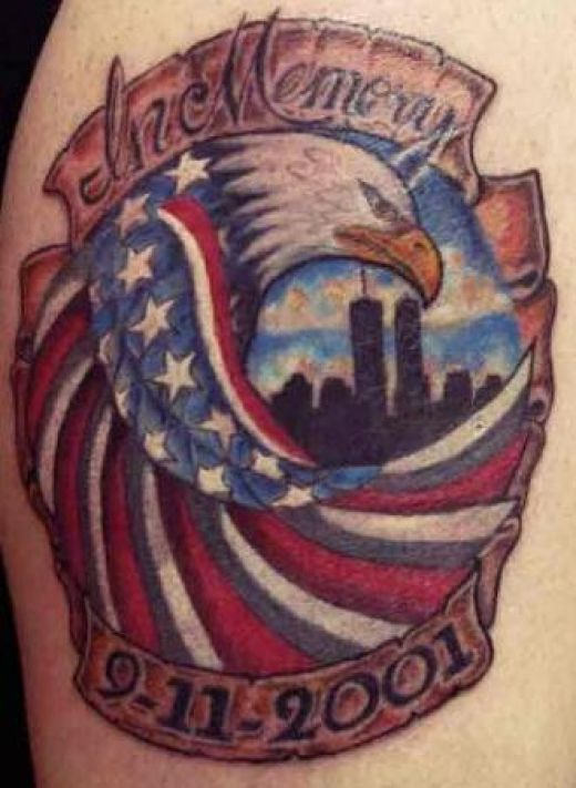 American Eagle Memorial Tattoo Design