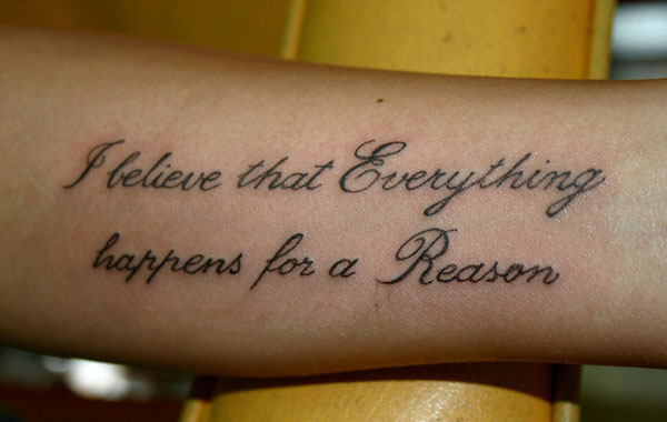 Awesome Literary Tattoo On Forearm