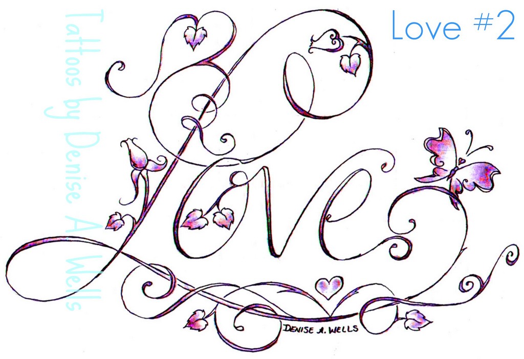 Gallery For gt Love Tattoo Drawing