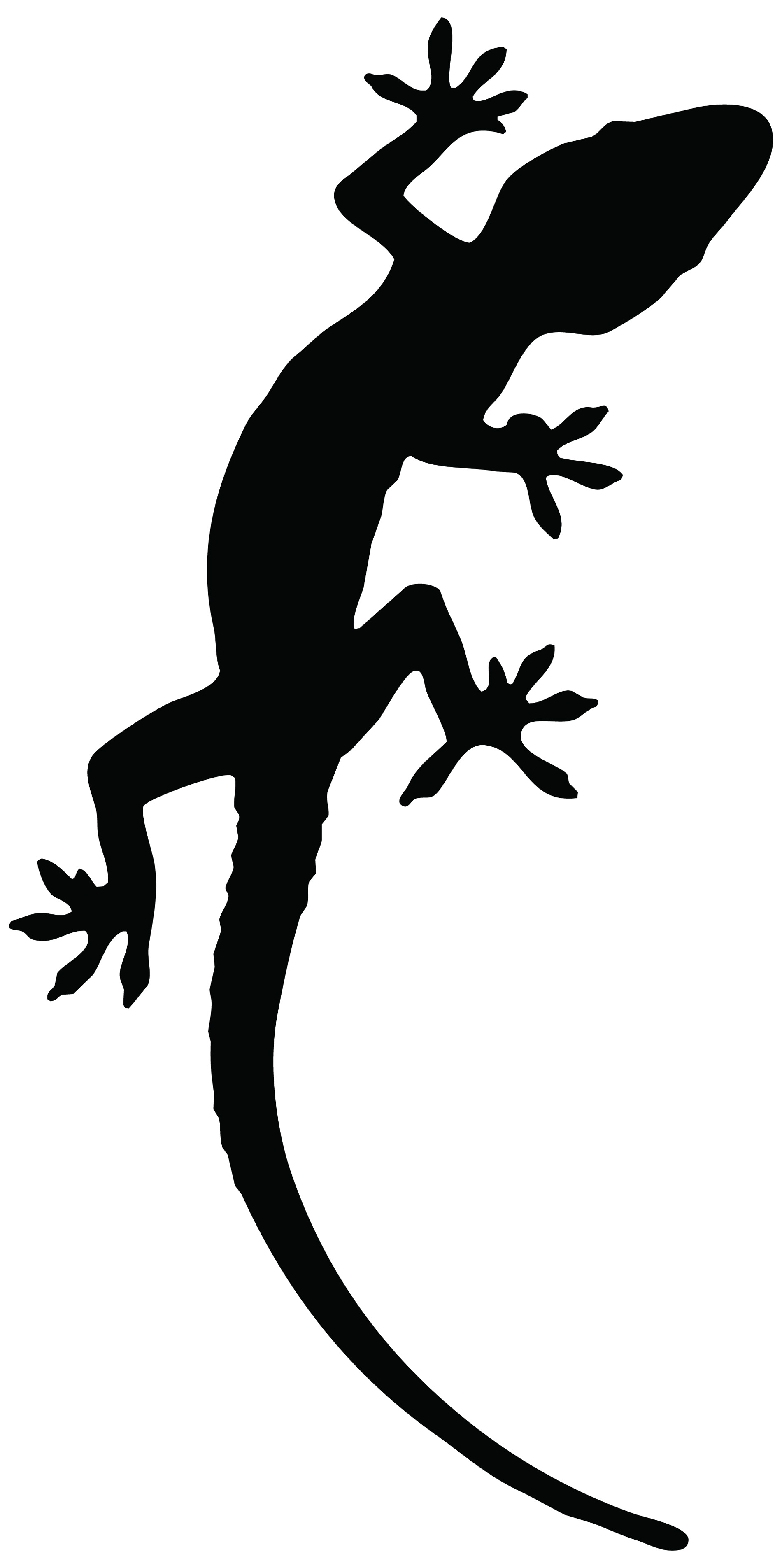 Black Reptile Lizard Tattoo Stencil