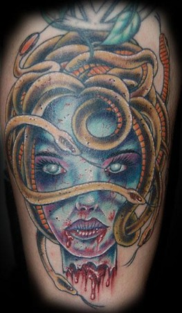 Bloody Medusa Tattoo Image