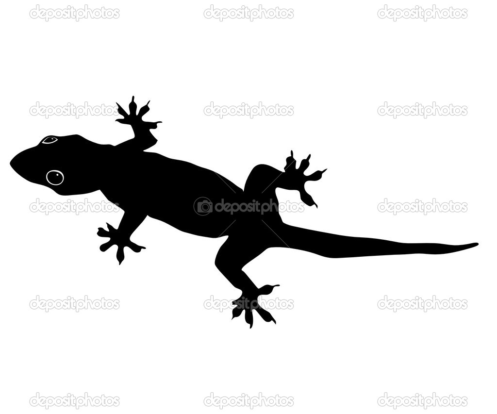 Bold Black Lizard Tattoo Design