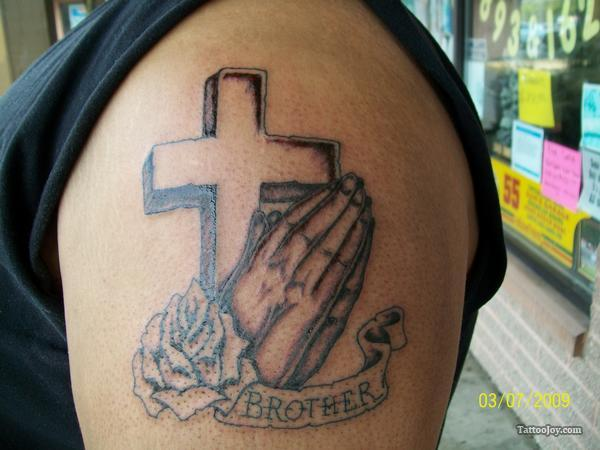 Brother Memorial Tattoo On Shoulder