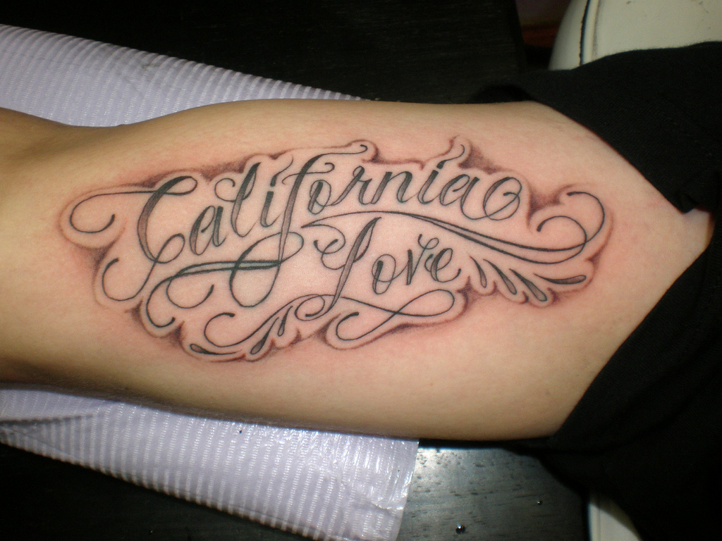 California Love Tattoo On Arm