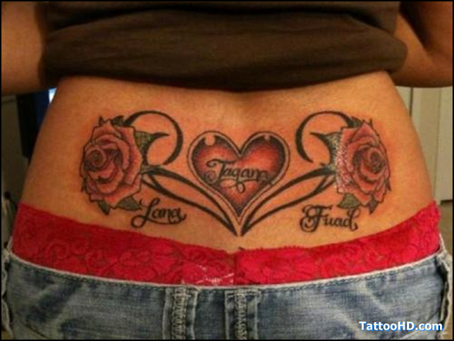 Chinese Symbol For Love Tattoo On Lower Back