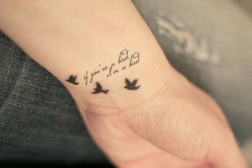 Cute Love Quote Tattoo On Wrist