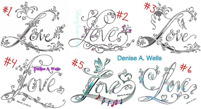 Denise-A. Wells Love Tattoo Designs