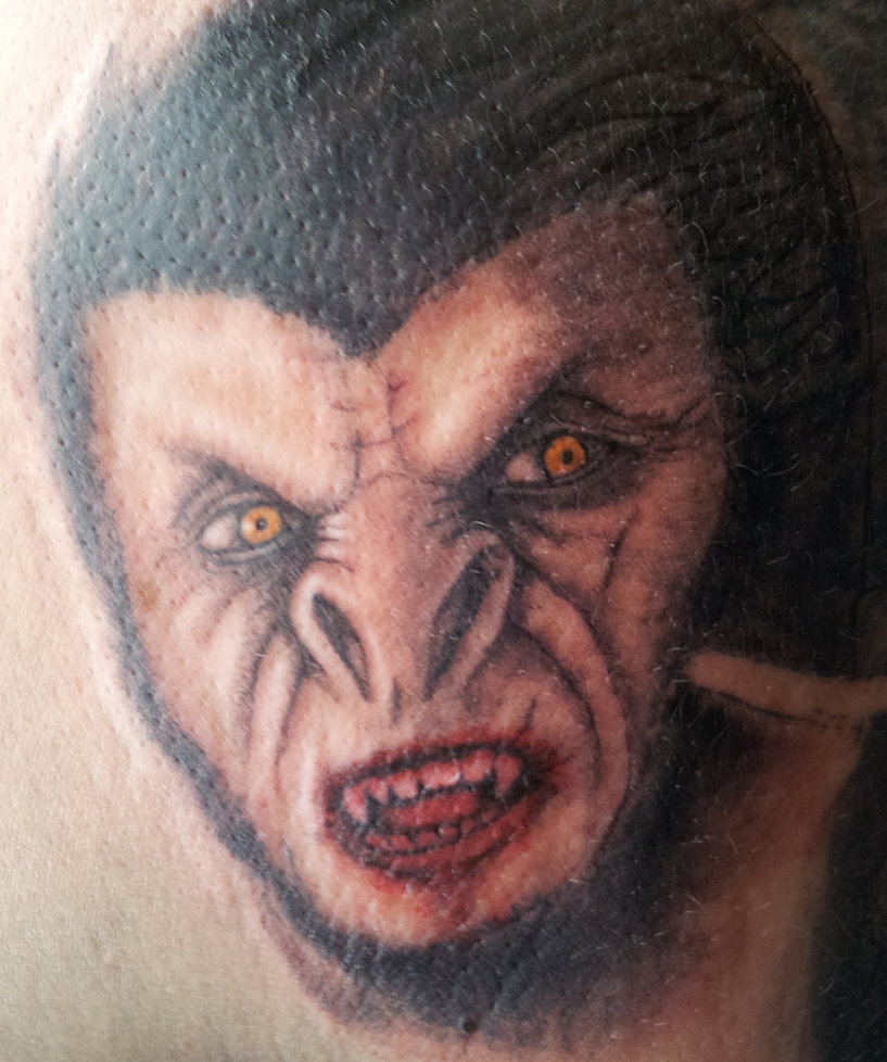 Dracula Mask Tattoo Design