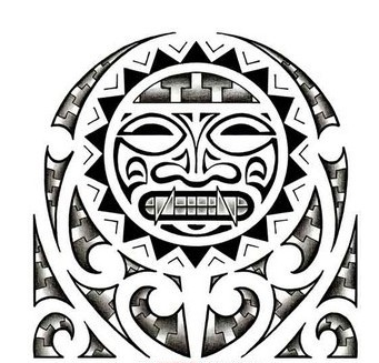 Free Aztec Mask Tattoo Design
