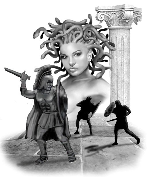Free Medusa Stone Warriors Tattoo Design