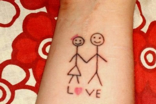 Funny Love Tattoo On Arm