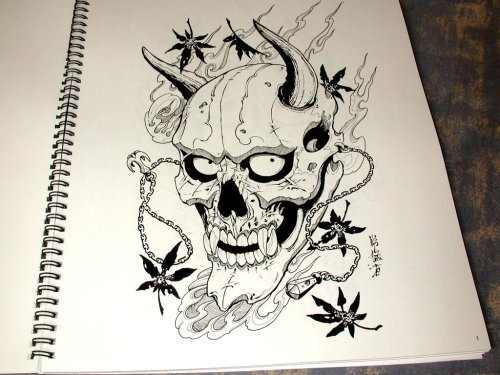 Hannya Mask Tattoo Model