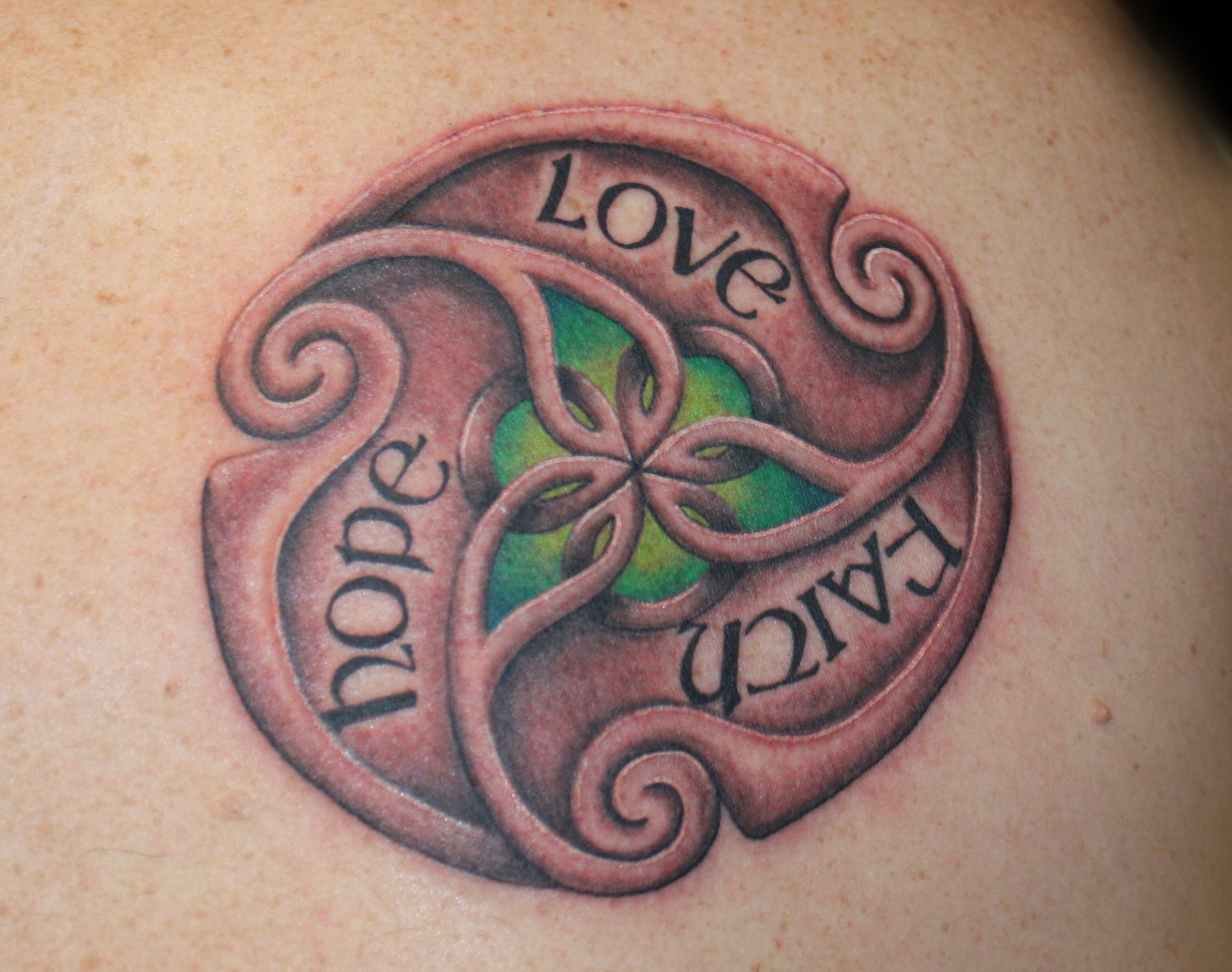 Hope Love Faith Tattoo Design