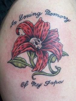 I Loving Memory Of My Papa - Memorial Tattoo Design
