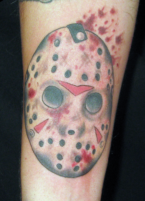 Jason Mask Horror Tattoo Design