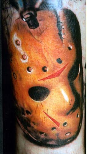 Jason Mask Tattoo Design