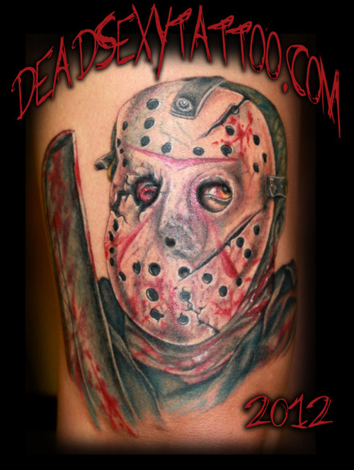 Jason Vorhees Mask Tattoo Design