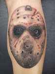 Jason's Mask Horror Tattoo Design