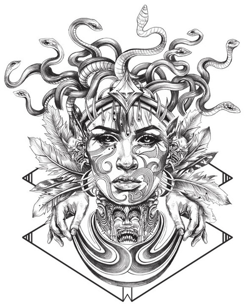 Latest Medusa Tattoo Flash