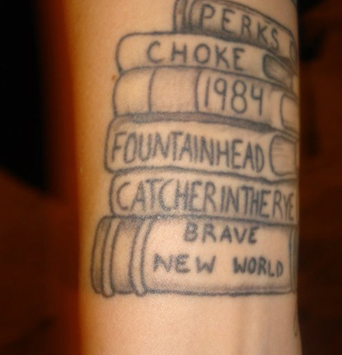 Literary Books Tattoo Design