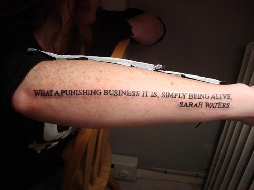 Literary Quote Tattoo On Arm