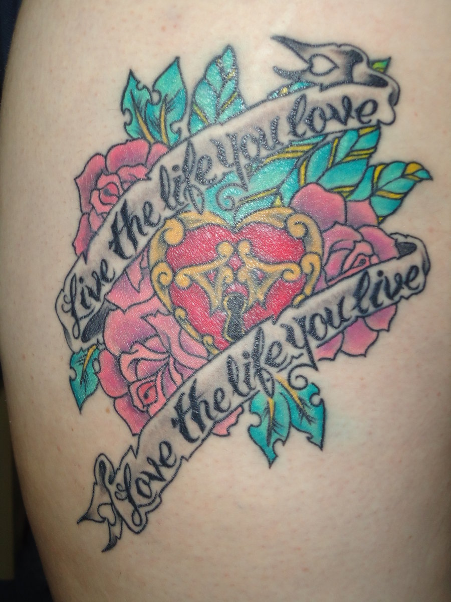 Live The Life You Love Tattoo Design