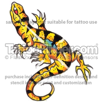 Lizard Tattoo Design Preview