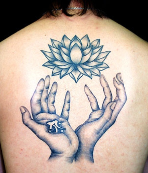 Hand Tattoo Designs Lotus And Hand Tattoo Designs