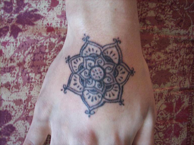 Lotus Mandala Tattoo On Hand