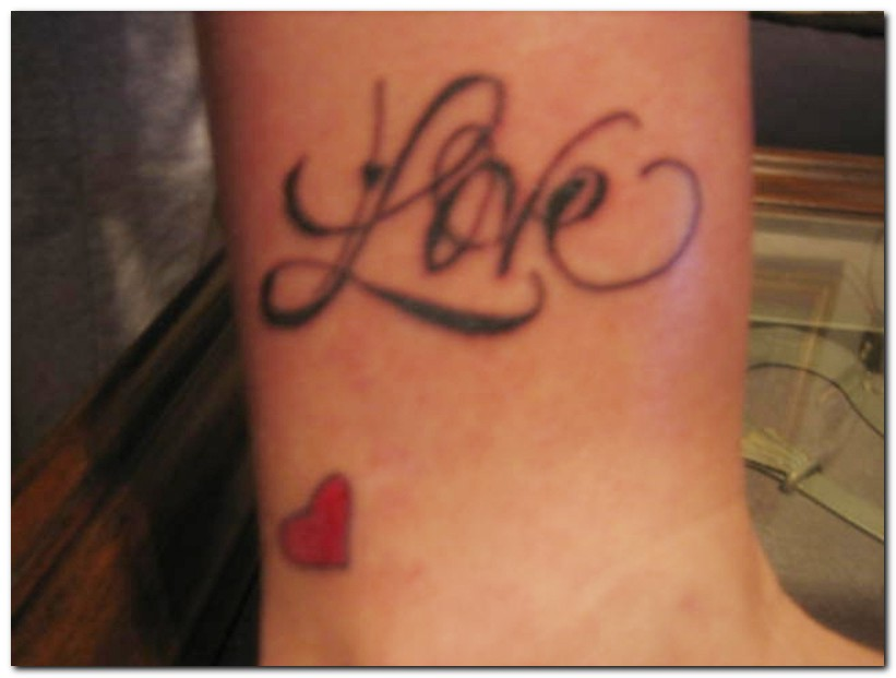 Love And Tiny Heart Tattoo Design