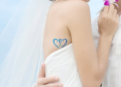 Love Hearts Tattoo On Side